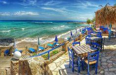 Alicia Almaraz: Google+ Taverna With A Sea View At Tsilivi on Zakynthos island Greece  Photography by Alistair Ford