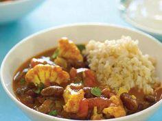 Curried Red Kidney Beans and Cauliflower (Rajma Masala)