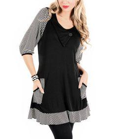 Loving this Black & White Stripe Tunic on #zulily! #zulilyfinds. Size large
