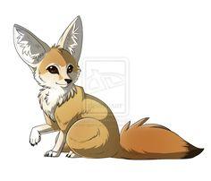 fennec fox by 0ishi on deviantART