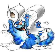 Cute Animal Drawings, Art Drawings, Chicken Art, Blue Cats, Cat Art, Cats And Kittens, Childrens Books, Character Art, Street Art