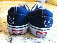 Hand Painted Shoes  Small Anchor on Heel by SpadesandSparrows, $75.00