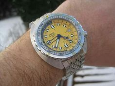 Doxa Divingstar GMT Diving Watch, Seiko, Vintage Watches, Watches For Men, Audio, Accessories, Clocks, Antique Watches, Men's Watches