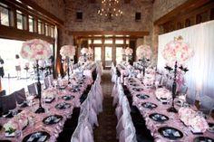 Paris em preto e rosa é tema de chá de bebê romântico e sofisticado