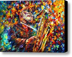 Sonny Rollins portrait oil painting on canvas by Leonid Afremov Oil Painting Texture, Oil Painting On Canvas, Knife Painting, Saxophone Music, Sonny Rollins, Music Painting, Famous Musicians, Modern Art Deco, Art For Art Sake