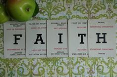 Alphabet Letter Cards FAITH From The Vintage by smileitsvintage, $4.00