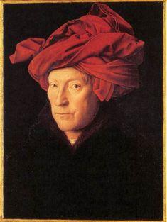 L'Homme au turban rouge, 1433 Autoportrait présumé de Jan van Eyck