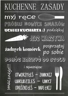 Tablica do kuchni Babe Quotes, Polish Recipes, Home Hacks, Inspired Homes, Good Advice, Home Organization, Motto, Good To Know, Diy And Crafts