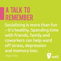 Spending Time With The People You Love Is Good For Your Memory And Wards Off Many
