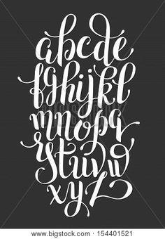 black and white hand lettering alphabet design, handwritten brush script modern calligraphy cursive font vector illustration Tattoo Lettering Fonts, Hand Lettering Alphabet, Lettering Styles, Graffiti Lettering, Calligraphy Fonts, Brush Lettering, Lettering Design, Modern Calligraphy Alphabet, Alphabet Images