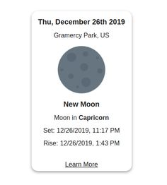 Moon phase widget for WordPress Moon Zodiac, Capricorn Moon, Wordpress Org, Wordpress Plugins, Moon Phases Names, Moon Calendar, Astronomy, Zodiac Signs, Colorful Backgrounds