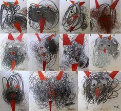 Winter Art Projects, Winter Crafts For Kids, Diy For Kids, Kindergarten Art Lessons, 3d Christmas, Sharpie Art, Art N Craft, Nature Crafts, Christmas Activities