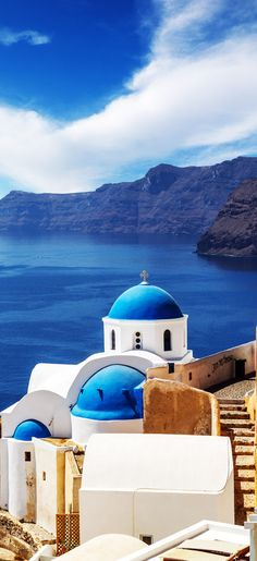 Churches of Oia village under puffy clouds, Santorini island, Greece 10 Breathtaking Photos of World's Most Romantic Island Places Around The World, Oh The Places You'll Go, Places To Travel, Travel Destinations, Santorini Island, Santorini Greece, Crete Greece, Athens Greece, Wonderful Places