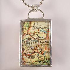 Switzerland Map Pendant $20