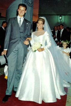 Wedding of Cotlide d'Orleans  created Princess in 1999!) and Edouard Crepy 1993 wedding.