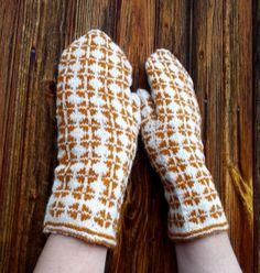 hand knitted latvian pattern wool mittens by peonijahandmadeshop, $44.00