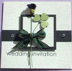 Irish Wedding Invitations  Use with Scottish plaid ribbon?