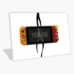 'Nintendo Switch Tiger King Edition' Laptop Skin by SinandTonic Buy Nintendo Switch, Macbook Air 13, Laptop Skin, Digital Alarm Clock, Vinyl Decals, Vibrant Colors, Bubbles, Cases, King
