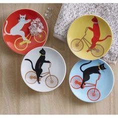 Cat Cruiser Plates - Set of 4 | VivaTerra