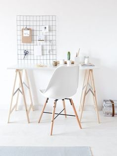 white wall office grid wall organizer