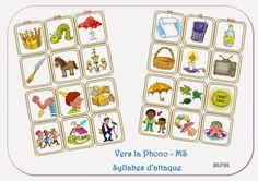 Vers la phono - Familles de syllabes d'attaque MS Blog mapetitematernelle