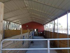 another inside carport barn Horse Shed, Horse Stables, Horse Barns, Horses, Sheep House, Arched Cabin, Barn Stalls, Horse Shelter, Goat Barn