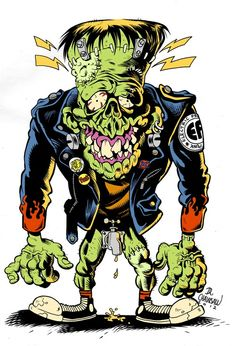dr-chainsaw: Mi homenaje a los Electric Frankenstein. http://drchainsawstudio.blogspot.com