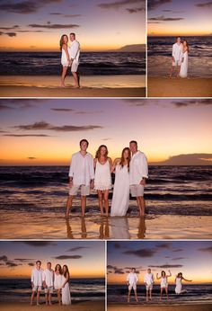 Sunset Portraits for the family on Maui