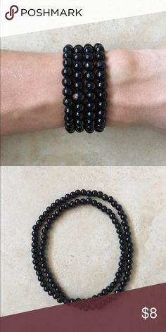 Black Mala Buddha Beads 8mm Brand new   Fits most wrist sizes  All orders ship out same day with tracking   Check out my other listings and bundle to get more for less :)  If you have any questions, let me know  Thank you   #buddhabracelet #yoga #yogi #bundle #chakra #buddha #bracelet #meditate #mala #malas #chakrabracelet #7stones #lapis #gem #gems #gembracelet #hamsa #gold #jasper #dumbell #tigereye #lion #tiger Jewelry Bracelets