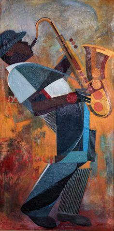 Art Deco Saxophone - Amando Aquino. Really cool piece!