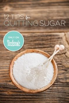 12 Tips for Quitting Sugar. I'm going to try it for 3 months. Anyone up for the challenge too? #weightlossrecipes