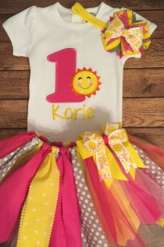 You Are My Sunshine Birthday Tutu Outfit by ScrapHappyTutus