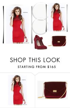 """Red Sherri Hill 32055 Halter Neckline Mini Dress"" by susannelsone on Polyvore featuring Sherri Hill and Dune"