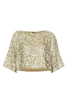 Going to sparkle tonight with this gold sequin crop top!
