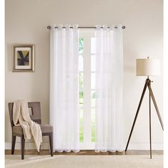 Madison Park Clarion Sheer Flame Retardant Curtain Panel | Overstock.com Shopping - The Best Deals on Sheer Curtains