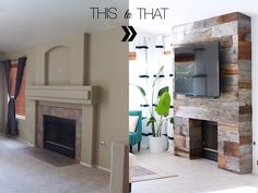 The best step by step tutorial to cover that old ugly brick fireplace with any reclaimed wood! AND it's super easy! <3