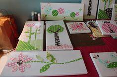 Using fabric scraps!  amy j. delightful blog: Arts & Crafts Fair 2009