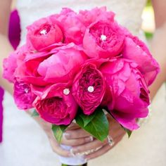 Blinged Peonies Bridal Bouquet