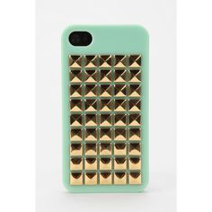 Pyramid-Stud iPhone 4/4s Case ($28) ❤ liked on Polyvore