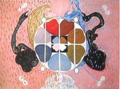 Hilma af Klint created abstract art before the first canvases by Kandinsky, becoming a pioneer in devotional, and yet scientific interpretations of nature. Abstract Painters, Abstract Art, Women Artist, London Drawing, Hilma Af Klint, Art Story, Oil Painting Reproductions, Ancient Symbols, Art Abstrait