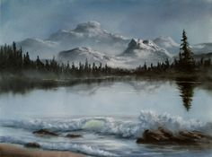 Image result for kevin hill's paintings Lake in the Mountains