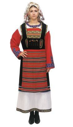 Thrace Female Traditional Greek Dance Costume rental set traditional buy purchase on sale shop supplies supply sets equipemnt equipments European Costumes, Folk Costume, People Of The World, Macedonia, Albania, Dance Costumes, Traditional Dresses, Bell Sleeve Top, Culture