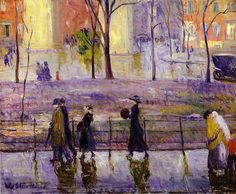 March Day Washington Square, 1912, William Glackens. American Ashcan School Painter (1870 - 1938)