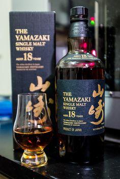 Yamazaki 18 - this Japanese whisky truly deserves every award it has ever won Good Whiskey, Cigars And Whiskey, Whiskey Drinks, Scotch Whiskey, Wine Drinks, Alcoholic Drinks, Cocktails, Irish Whiskey, Rum Bottle