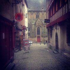 Lovely street in Rennes, France