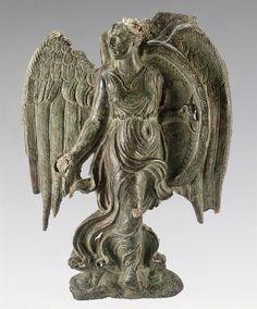 Greek Bronze Goddess Nike - Classical period, circa 4th century BC, at the Christie's coll, New York