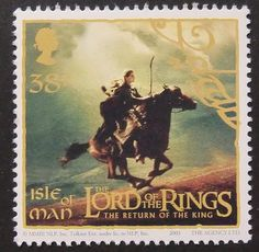 7403 - Framed Postage Stamp Art - The Lord Of The Rings - The Return Of The King -3 - Isle Of Man - Movies and entertainment