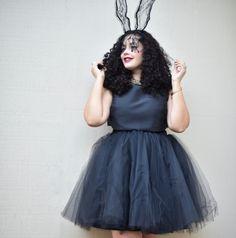 Haute Bunny: Lace Bunny Ears, Crop Top, Tutu Skirt