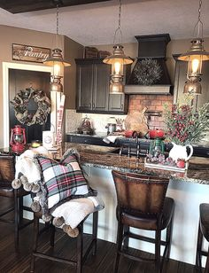 #kitchendesign #kitchendecor #kitchens #christmas #rustic #holidaydecor #christmasdecor