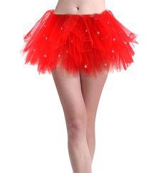 SMMER Women LED Light Up Neon Rainbow Party Dance Tutu Skirt